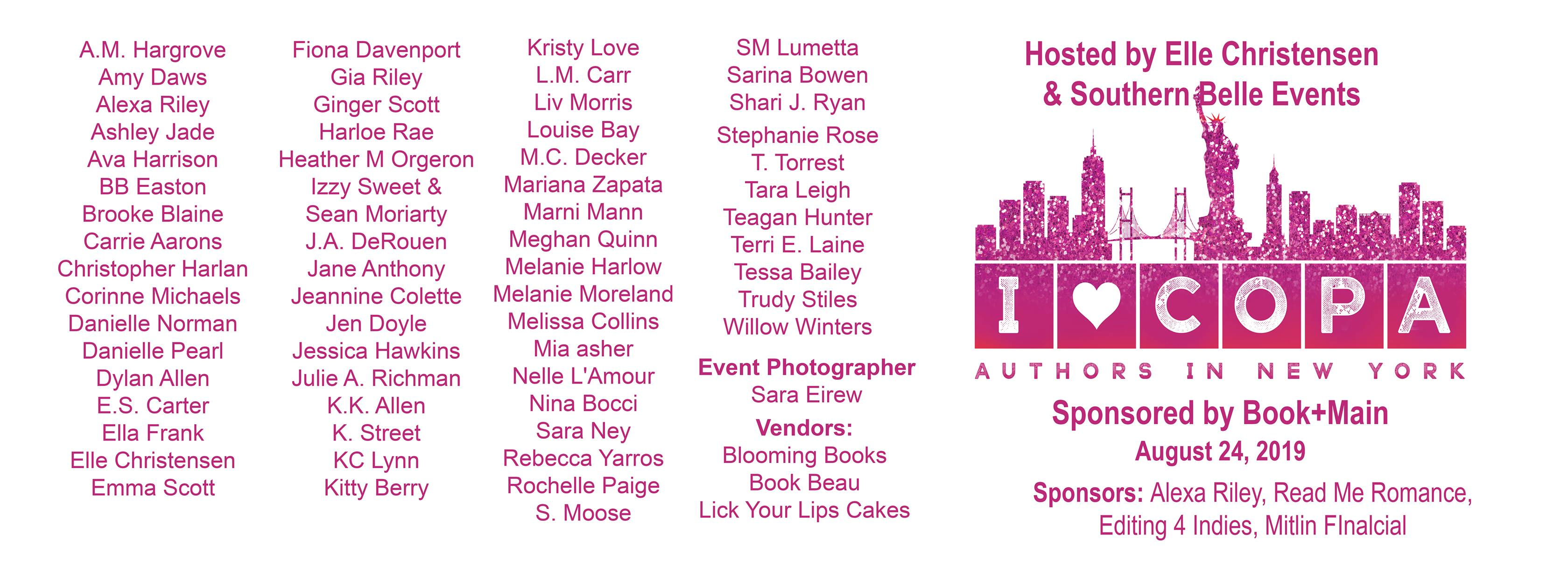 Romance Author Signing Events 2020.Copa Authors In New York